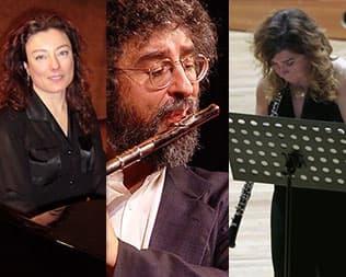 Trio Enzo Caroli, Fabrizia Broglia, Anna Martignon